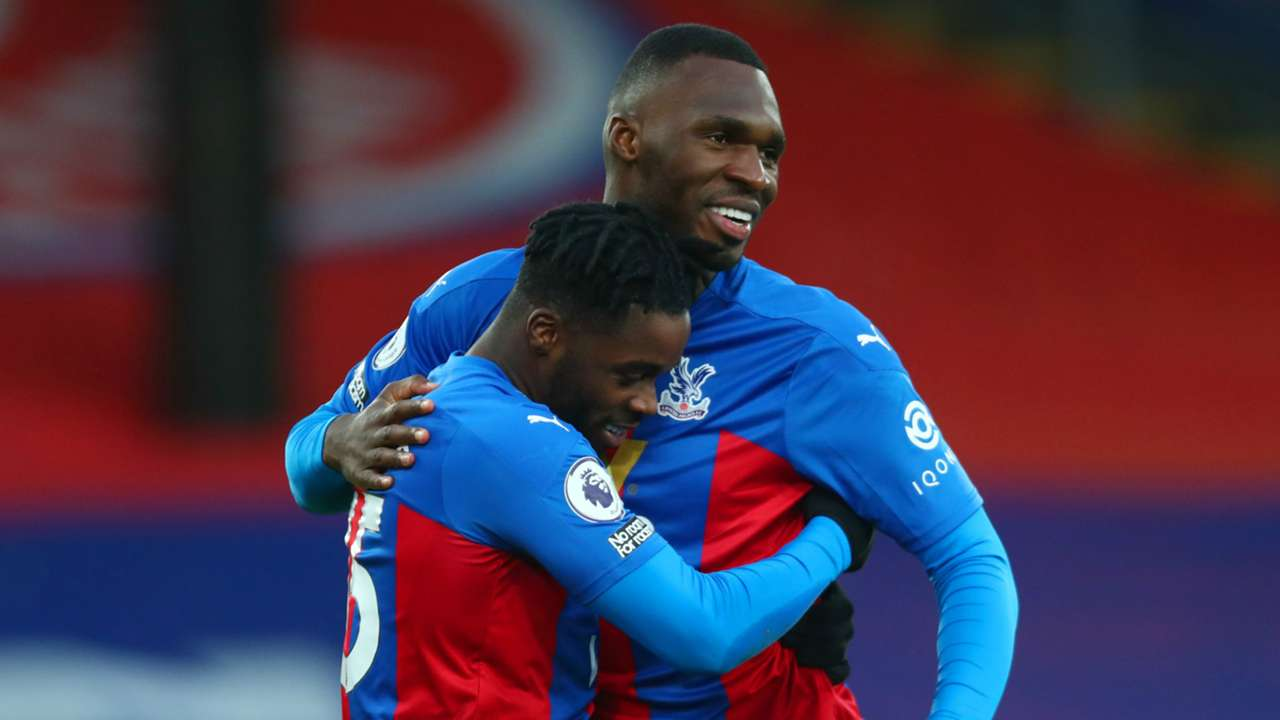 Jeffrey Schlupp Christian Benteke Crystal Palace vs Sheffield United Premier League 2020-21