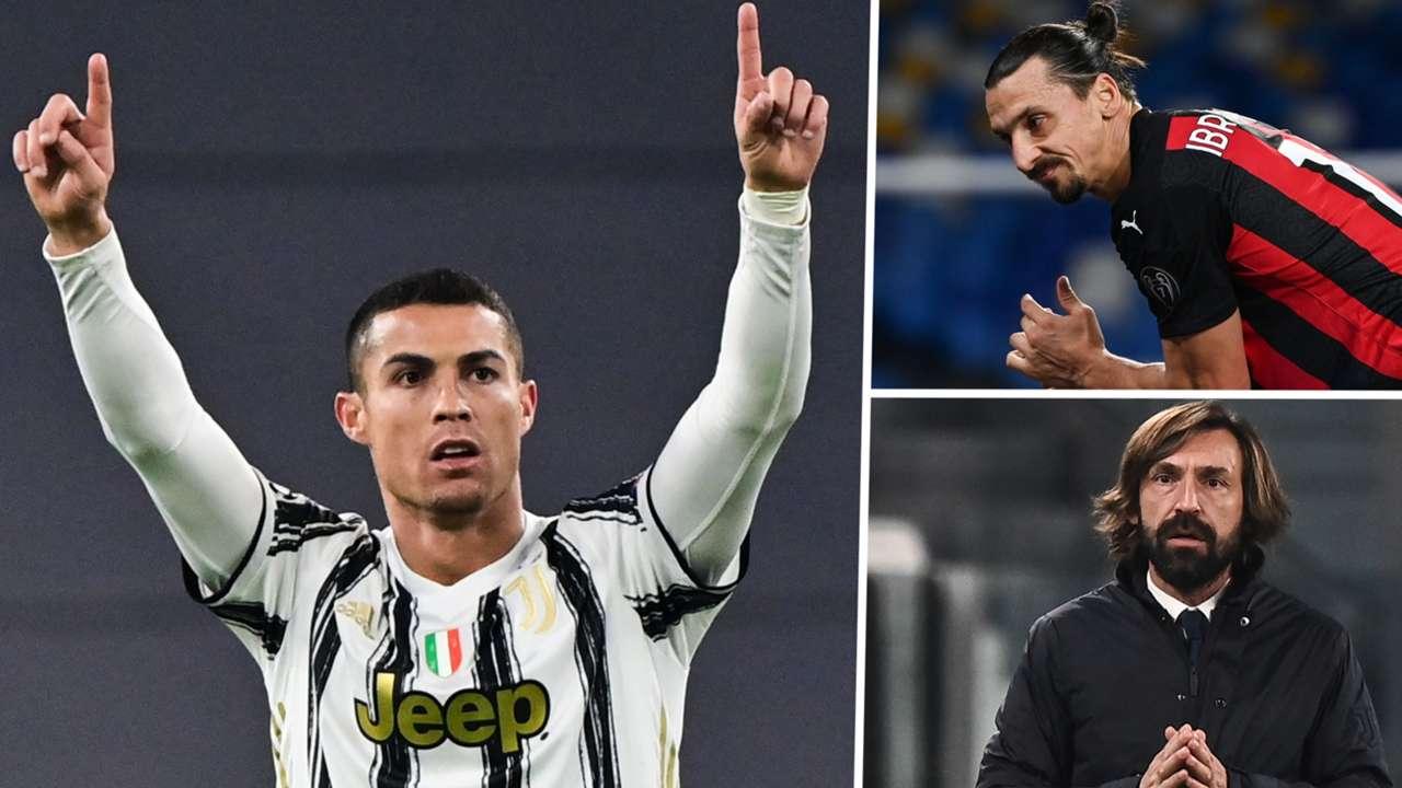 Cristiano Ronaldo Zlatan Ibrahimovic Andrea Pirlo Juventus AC Milan GFX