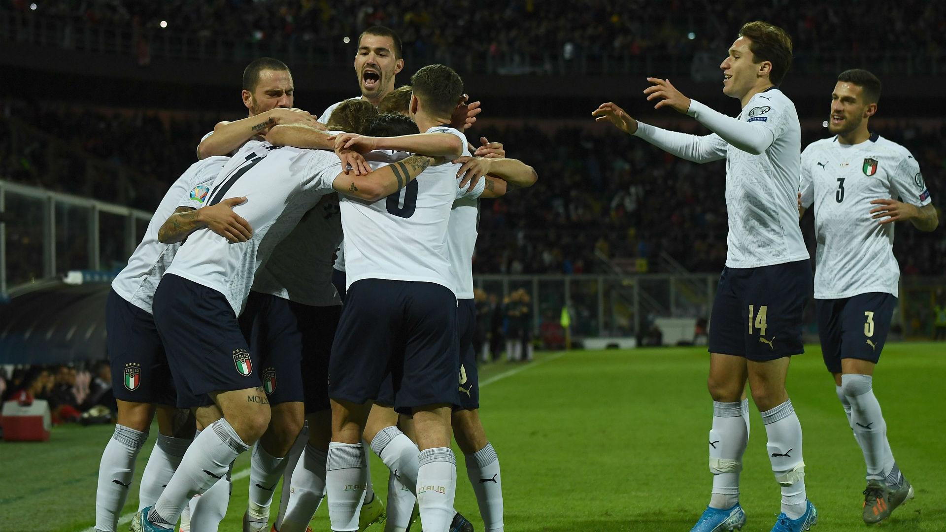 Italy v Armenia Goal Celebration 11182019