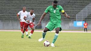 Victor Wanyama scores from the penalty for Harambee Stars.