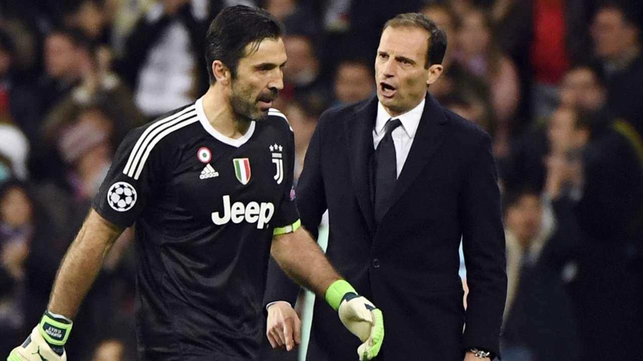 Allegri Buffon Real Madrid Juventus Champions League