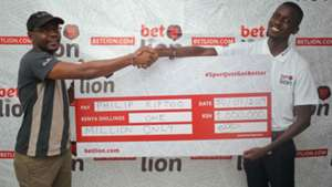 Philip Kiptoo wins with Bet lion.