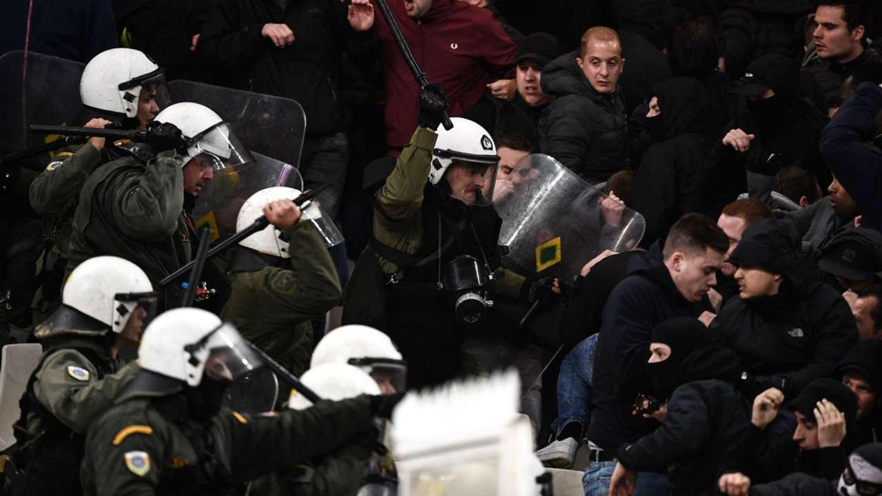 Ajax AEK Athens Champions League police 271118