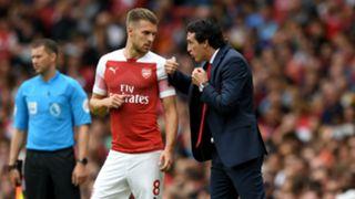 Unai Emery Aaron Ramsey Arsenal Manchester City Premier League 12082018