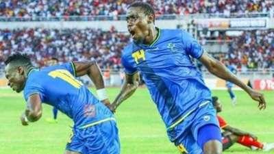 John Bocco scores for Tanzania.