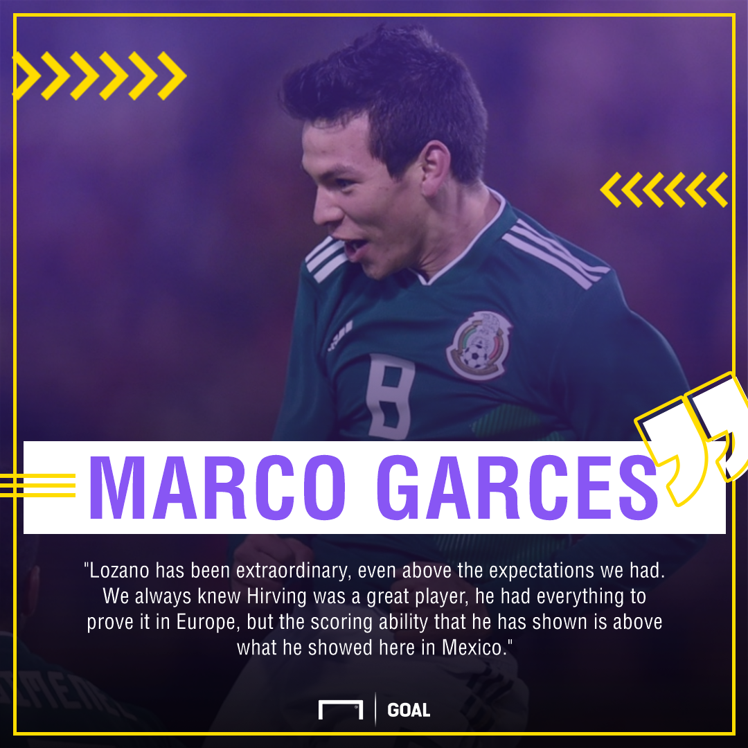 GFX Info Marco Garces quote Hirving Lozano PSV