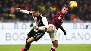 Ismael Bennacer Cristiano Ronaldo Milan Juventus