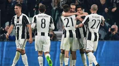 Juventus celebrating Juventus Palermo Serie A