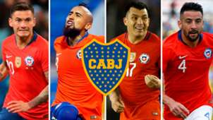 Aranguiz Vidal Medel Isla Chile Boca Juniors
