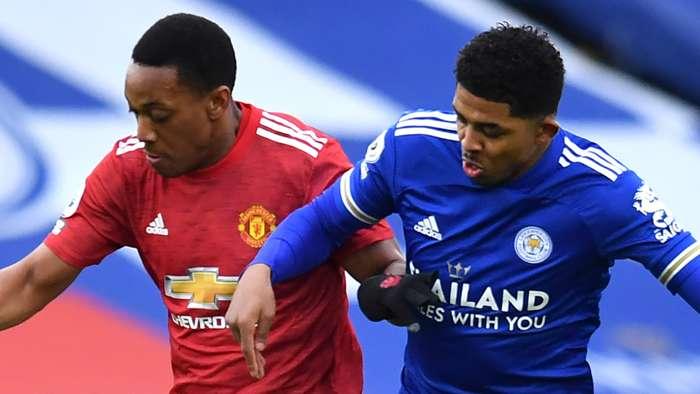 Anthony Martial Wesley Fofana Man Utd Leicester 2020-21