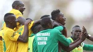 Mathare players celebrates Mwanzia