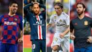 Suárez, Neymar, Modric y Ramos