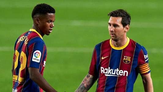 (Champions League) Barca thắng giòn giã, Messi & Fati thiết lập kỷ lục tại đấu trường châu Âu