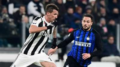 Mario Mandzukic, Danilo D'Ambrosio, Juventus Inter Serie A 09122017