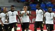 Jordan Ayew and Ghana teammates against Congo Afcon 2017