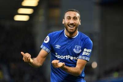 Cenk Tosun Goal Celebration Everton Crystal Palace Premier League 10/21/18