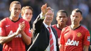 Rio Ferdinand Alex Ferguson Ryan Giggs Manchester United