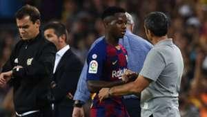 Ansu Fati Ernesto Valverde Barcelona Valencia 2019