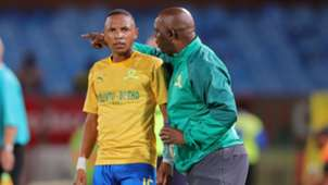 Andile Jali and Pitso Mosimane, Mamelodi Sundowns, January 2020