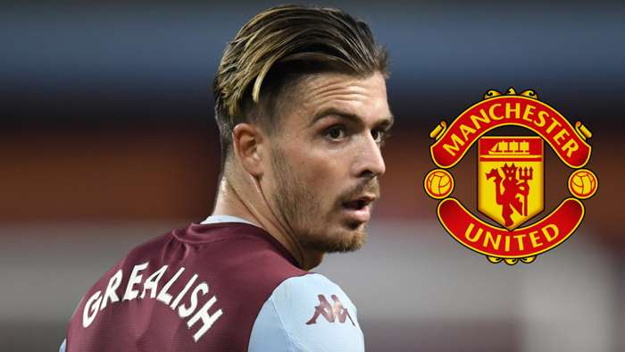 Jack Grealish Aston Villa Manchester United 2020
