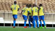 Western Stima players celebrate v Gor Mahia.
