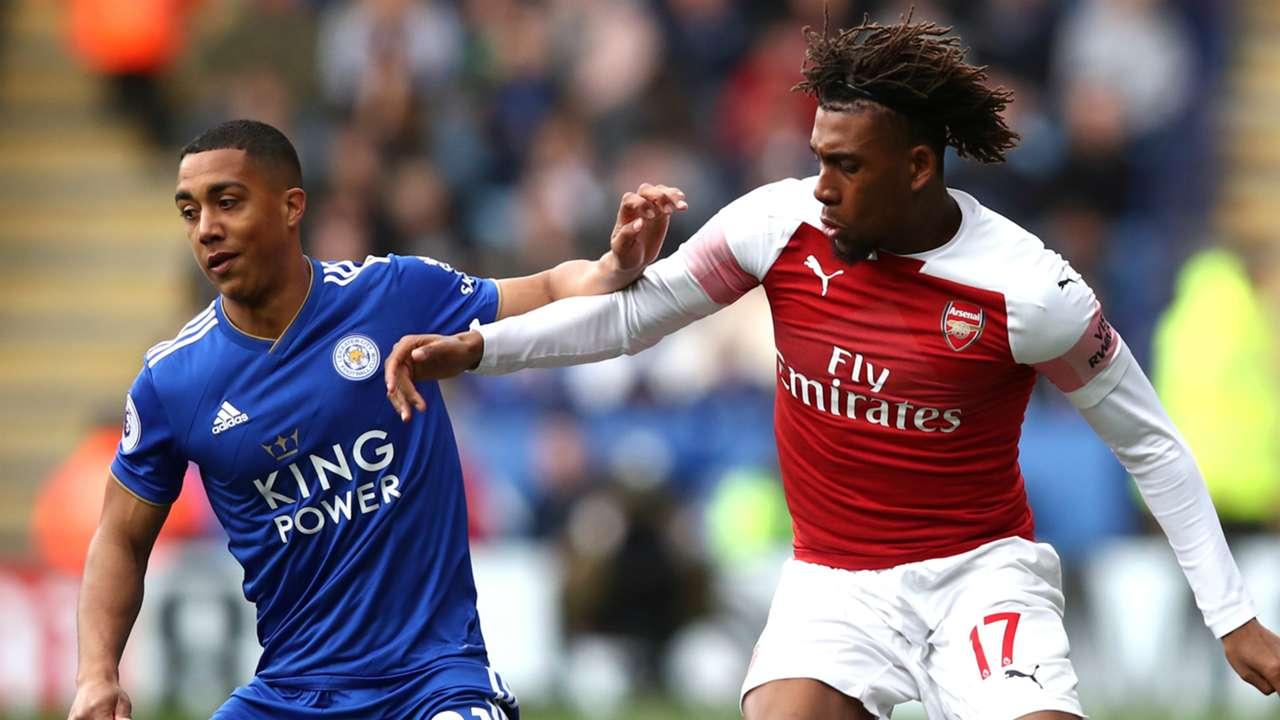 Youri Tielemans Alex Iwobi Leicester City Arsenal 2018-19