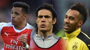 Edinson Cavani, PSG, Alexis, Aubameyang Split