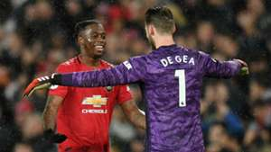 Aaron Wan-Bissaka David de Gea Manchester United City 2019-20