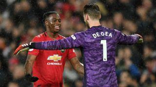 Aaron Wan-Bissaka David de Gea Manchester United City 2019-20