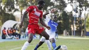 Francis Nambute of Posta Rangers v Titus Achesa of Sofapaka.