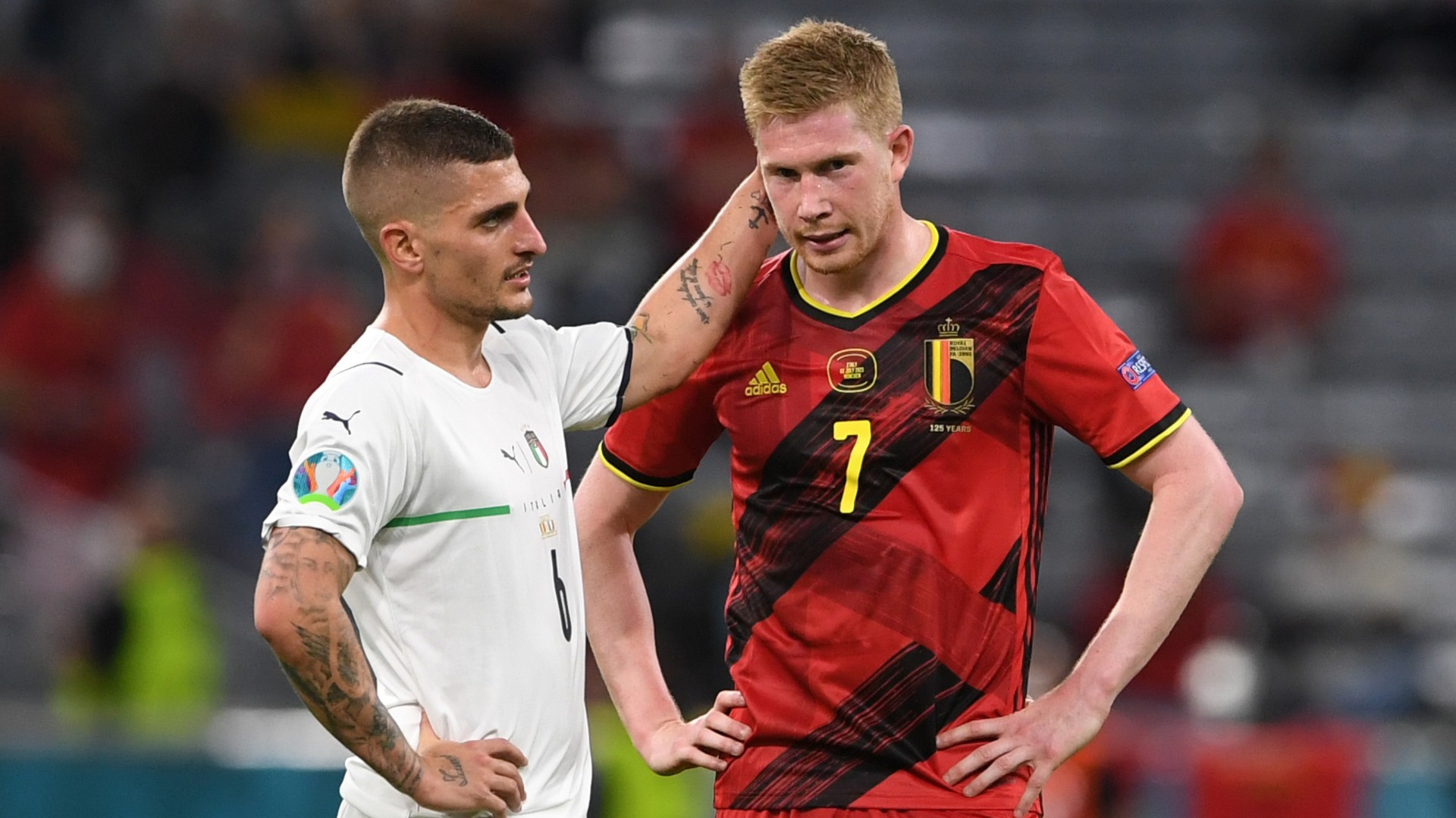 'We are just Belgium' - De Bruyne says Golden Generation cannot compete with France or Italy