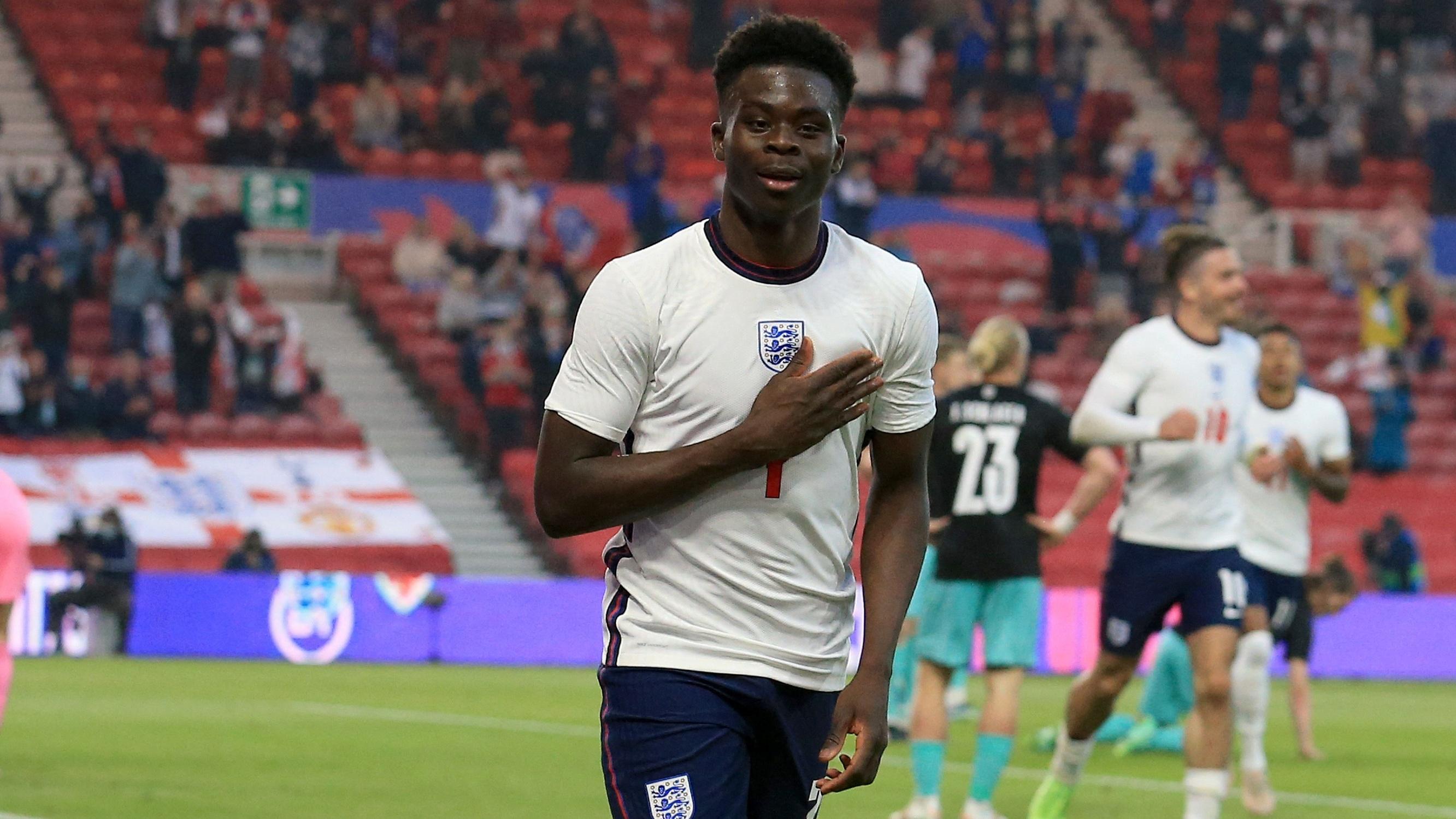 Saka makes history as he returns to England XI for Euro 2020 semi-final vs Denmark