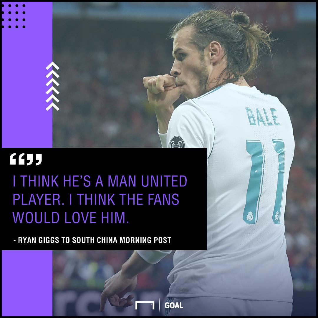 Gareth Bale a Manchester United player Ryan Giggs