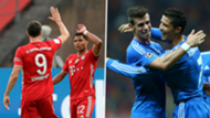 Lewandowski Gnabry Ronaldo Bale split