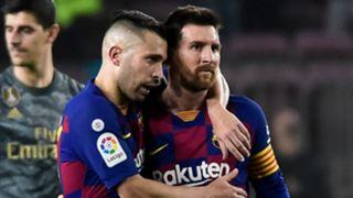 Jordi Alba Lionel Messi Barcelona 2019-20