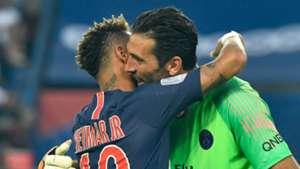 """Buffon sobre Neymar e Mbappé: """"no PSG, joguei com dois futuros Bola de Ouro"""""""