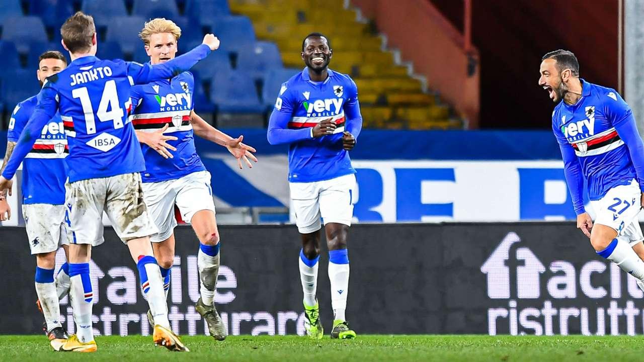 Sampdoria celebrating Crotone