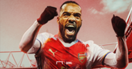 Lacazette Lyon Arsenal graphique montage GFX