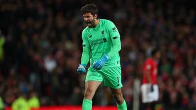 Alisson Man United Liverpool Premier League 20102019