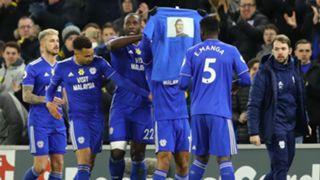 Cardiff celebrate vs Bournemouth