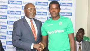 Pascal Ogweno of Gor Mahia and Ambrose Rachier.