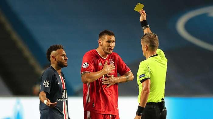 Neymar Niklas Sule PSG Bayern Munich Champions League Daniele Orsato Referee