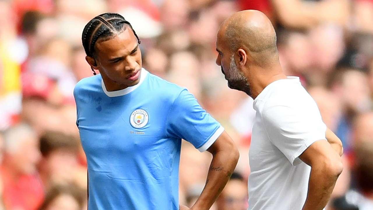 Leroy Sane Pep Guardiola Manchester City 2019-20