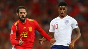 Isco Marcus Rashford Spain England 2018