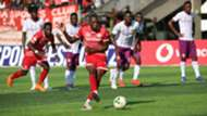 Meddie Kagere scores for Simba SC of Tanzania.j