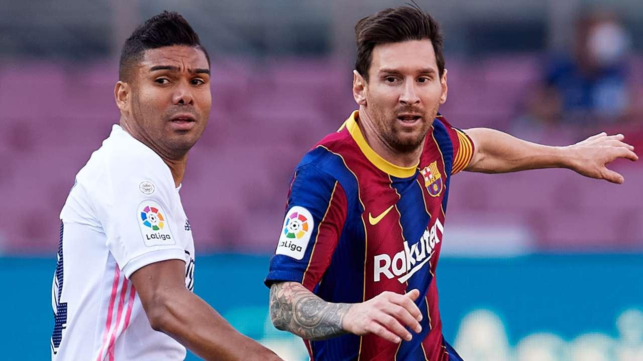 Casemiro Real Madrid Lionel Messi Barcelona 2020-21