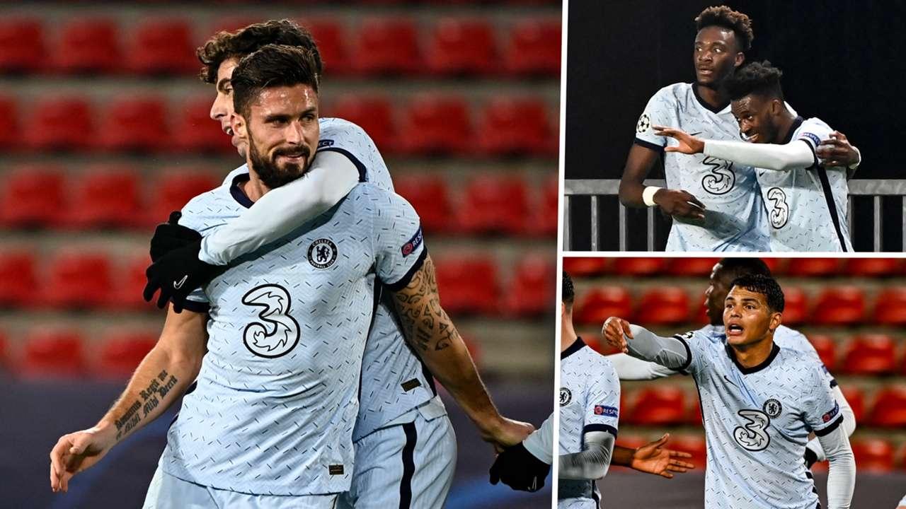Olivier Giroud Callum Hudson-Odoi Thiago Silva Chelsea 2020-21 GFX