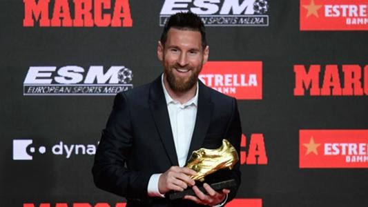 VIDEO: Lionel Messi bekommt den Goldenen Schuh verliehen und dankt seinen Mitspielern vom FC Barcelona