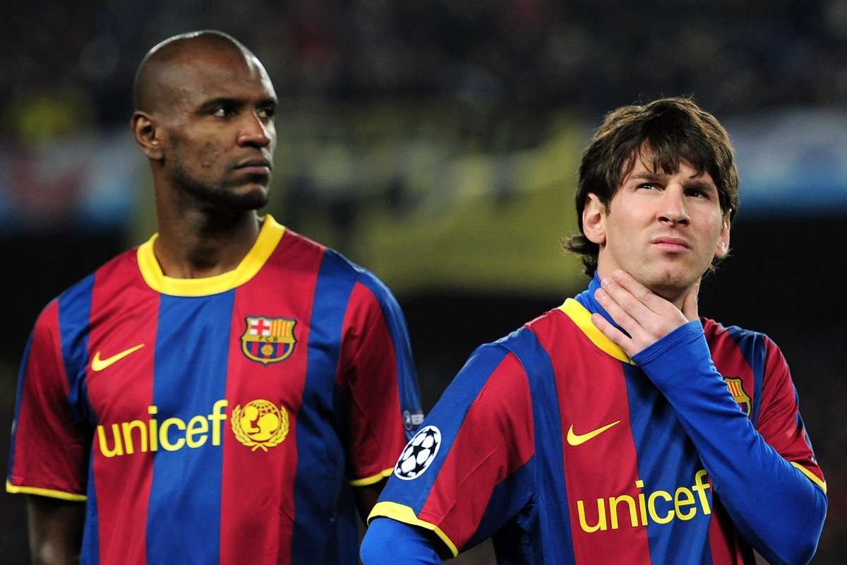 """Image result for messi and abidal"""""""