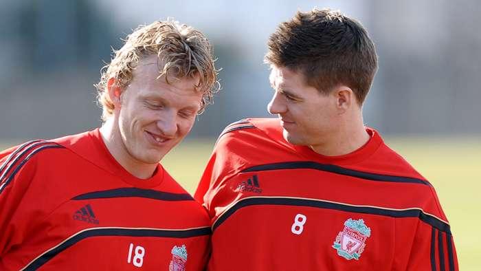 Dirk Kuyt Steven Gerrard Liverpool 2010